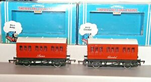 Hornby Thomas R110 Annie and R112 Clarabel Four Wheel Coaches Used Boxed