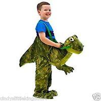 Green Dinosaur T Rex unisex kids fancy dress outfit Riding dress up costume 3-7
