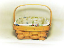Longaberger Small Berry Basket Combo Sw/H Botanical Fields Liner Protector 2003