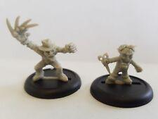 BLOOD BOWL WARHAMMER Goblin Hooligan Star giocatori x 2 in resina LTD ED