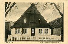 Germany Heide 25746 - Klaus Groth's Geburtshaus old sepia postcard