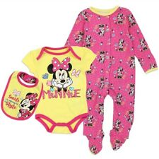 Minnie Mouse Girls Newborn 3-piece Creeper Set