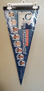 INDIANAPOLIS COLTS SUPER BOWL CHAMPS VINTAGE FELT PENNANT WITH HOLDER 03/7/21