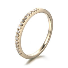 SOLID 10K YELLOW GOLD ETERNITY WEDDING BAND NATURAL DIAMONDS  ENGAGEMENT RING