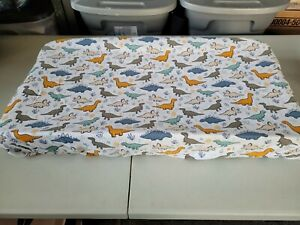 Changing Pad Cover Boys or  Girls Print Dinosaur Flannel Changing Pad Cover