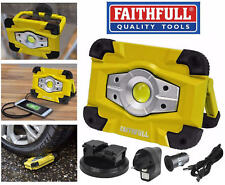 Faithfull 10W LED Inalámbrico Recargable 800 Lúmenes Trabajo/Lámpara De Trabajo