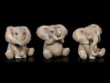 Drei Weise Baby Elefanten Figuren - Nichts Böses - Willow Hall lustige Statuen