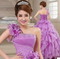 Stylish Womens Wedding Gown Quinceanera Dress Formal Party Pageant Ball Bridal