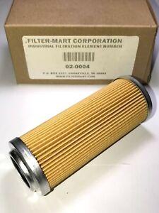 NEW FILTER-MART HYDRAULIC FILTER PLEATED LIQUID 02-0004 PT258 04722-001