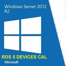 WINDOWS SERVER 2012 R2 - REMOTE DESKTOP SERVICES 5 DEVICE CAL- LICENCIA - KEY