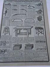 Pub Ancienne 1948 Articles de Outillage Quincaillerie Scie Verrou etc