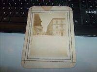 SIRACUSA foto originale fine '800 Cm. 11,5 x 8,5 su cartoncino