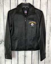 Pittsburgh Steelers Leather Jacket Super Bowl XLIII Champions Women Size S - NEW