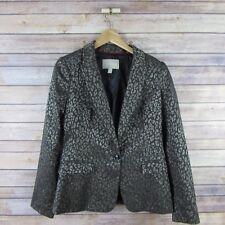 9be0225c49c6 BANANA REPUBLIC Women's Lined Blazer Jacket Sz 6 Brown Shimmer Leopard Print