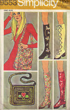 Vintage 60's & & 70's SIMPLICITY 9553  BOOTS*SPATS & BAGS Sewing Pattern