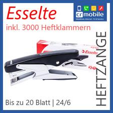 Esselte Heftzange Handtacker 20 Blatt inkl. 3000 24/6 Heftklamern Staples