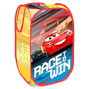 Disney Cars Boys Bedroom Pop Up Folding Car Organizer Toys Storage Basket S95