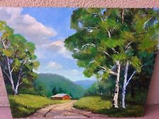 "Original Painting 16""x20"" Landscape Oil On Board Signed By The Artist B. Shields"
