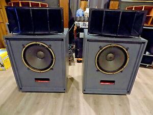 Vintage Altec Lansing horn speakers 612C cabinet 416A 806A 16ohm 511 horn