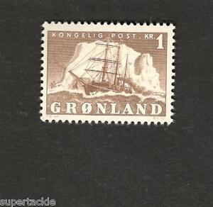 1950 Greenland SCOTT #36  Polar Ship  1 Krone MHstamp