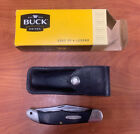 VINTAGE BUCK 317 FOLDING HUNTER KNIFE WITH ORIGINAL SHEATH NICE