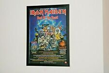 IRON MAIDEN Framed A4 rare 1996 `best of the beast` ALBUM original band poster