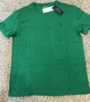 Men's Sz S Polo Ralph Lauren Crewneck Short Sleeve T-shirt Green purple pony