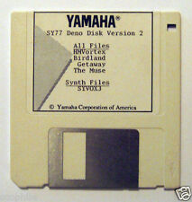 Yamaha SY77 Demo Disk 2, with Voices Sounds Sequences, on Original Floppy Disk