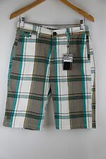 "Micros ""Splinter"" Green White Plaid Boys Skate Shorts"