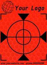 50 Stück Total Station Reflex Zielmarken 30mm x 30mm orange  Mit weißem Kreuz