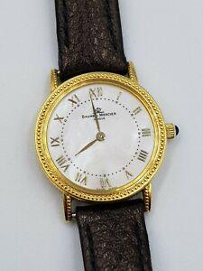 Ladies 18ct Gold Baume & Mercier Mother of Pearl Dial Watch