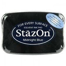 StazOn Solvent Ink Pad  *Midnight Blue* NIP  297459