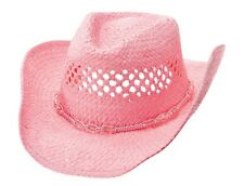 MG Womens Straw Outback Toyo Cowboy Hat Pink #1114