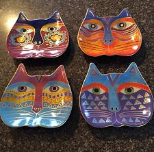 Laurel Birch Cat Appetizer Plates Set Of 4, J100
