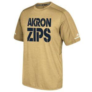 Akron Zips NCAA Adidas Men's Primary Wordmark Sand T-Shirt