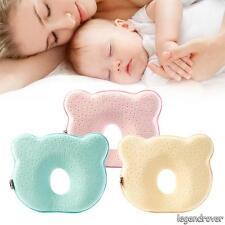 Baby Cot Infant Newborn Memory Foam Pillow Prevent Flat Head Anti Roll Support