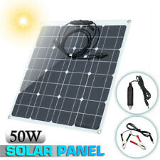 50W 12V Flexible Solar Panel Module Kit Battery Charger For Car RV Marine Boat