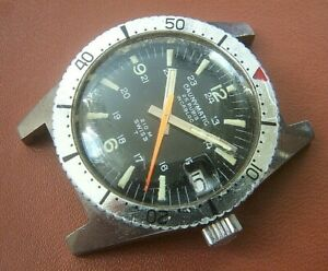 A CAUNY PRIMA CAUNYMATIC DIVERS WATCH c.EARLY 1970'S. NEEDS A SERVICE