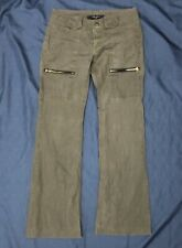 Billy Blues Moss Green wide leg pants, size 6 Zipper Pockets