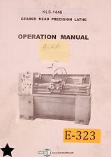 Acra Kls 1440 Gm1340a Lathe Operations Manual