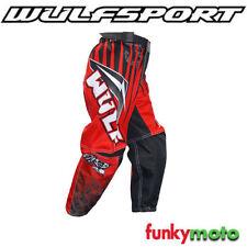 Pantalones de color principal rojo para motoristas