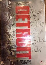 DETROIT Cast Signed Original Movie Poster 27x40 20+ BOYEGA,BIGELOW,POULTER PROOF
