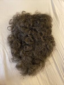 Vintage Toupee Hair Piece By Crown Dark Brown W Some Greys Curly 163
