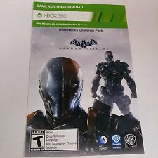 (DLC ADD-ON ONLY) Batman: Arkham Origins DEATHSTROKE PACK (XBOX 360) #2104