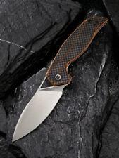 CIVIVI Anthropos Liner Lock Knife Orange G10 CF Overlay Handle D2 Blade C903A