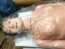 multi functional nursing training  female manikin cream color plastic material
