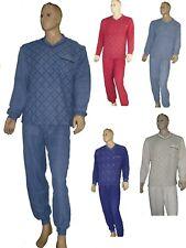 Herren Frottee Schlafanzug  Pyjama  lang Arm-und Beinbündchen  M-XXXLkuschelig