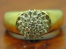 18kt 750 Yellow Gold Ring 0,53ct Brilliant Decorations/ Diamond/ 6,7g/ Rg 56