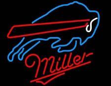 "Buffalo Bills Miller Neon Sign 20""x16"" Beer Light Lamp Bar Display Windows Glass"