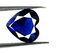Blue Sapphire Loose Ceylon Gemstone 2 Carat Natural Heart Shape AGSL Certified